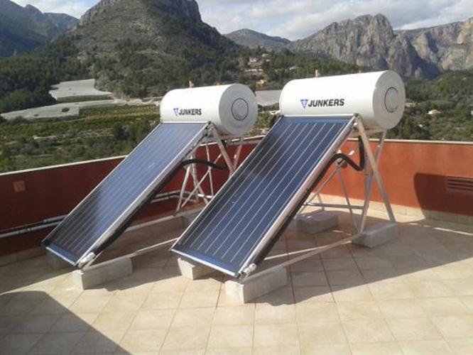 Warm water zonnepanelen zelfbouw